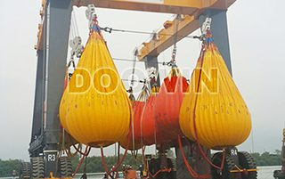 boat lift load testing water bags