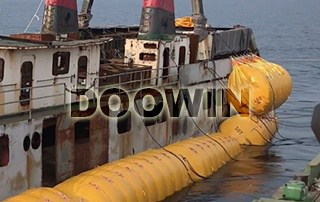 marine salvage airbags float ship