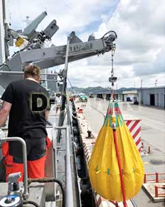 davit-load-test-water-bags