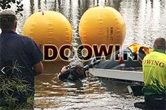 underwater lift bags salvage boat