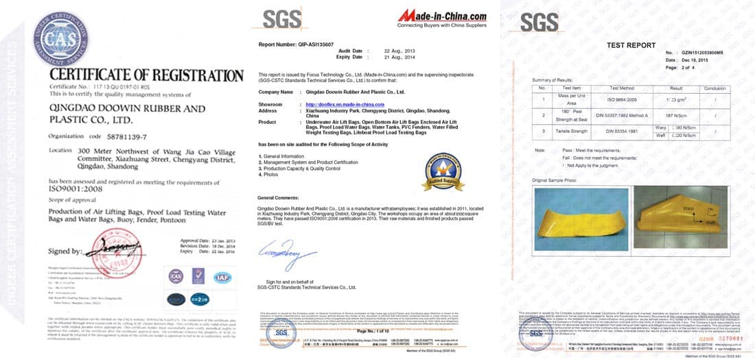 ISO SGS certificate