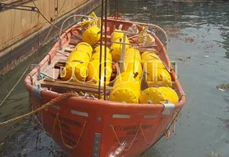 Lifeboat-test-water-load-bags