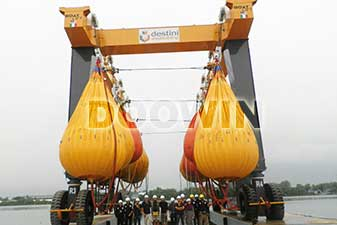 boat lift proof load testing water bags