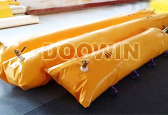Gangway test water filled weight bags
