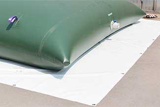 potable water collapsible bladder tanks ground sheet
