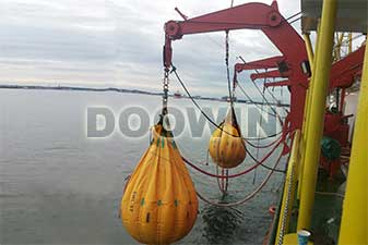 davit load test water bags