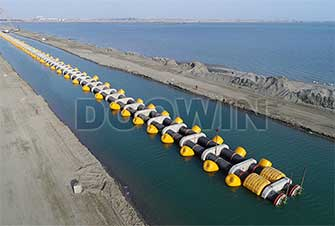 pipeline buoyancy units for pipe laying project