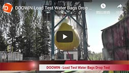 water weights bag drop test