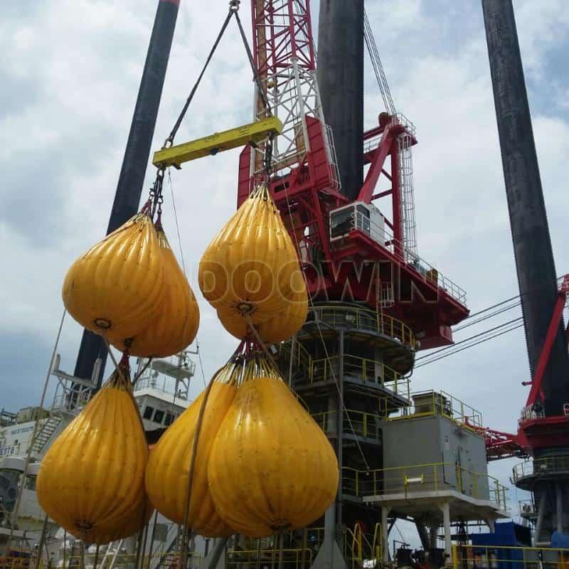 crane load testing water bags