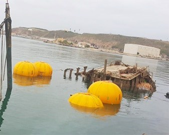 marine salvage using air bags