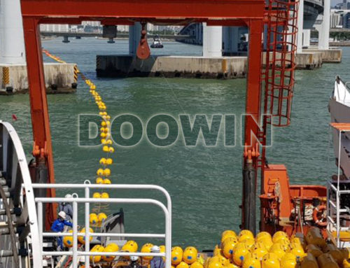 Twin Boom Floaters for Cable Laying
